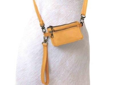 tas portemonnee leer small- warm yellow