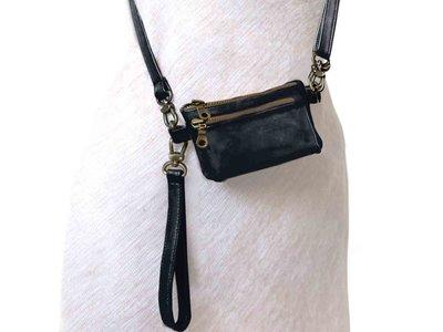 tas portemonnee leer small- black