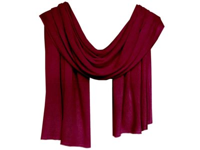sjaal cashmere -diep bordeau rood