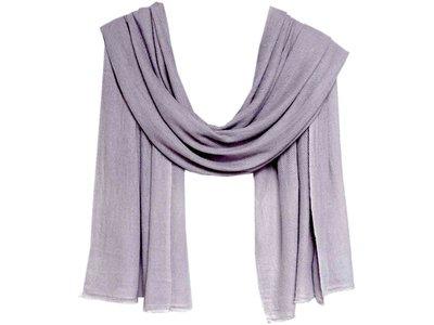sjaal cashmere -midden grijs