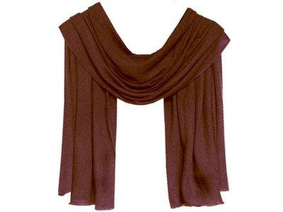sjaal cashmere -kastanje bruin