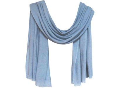 sjaal cashmere - staalblauw