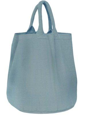 opbergzak/ tas XL rond zware katoen - zeeblauw