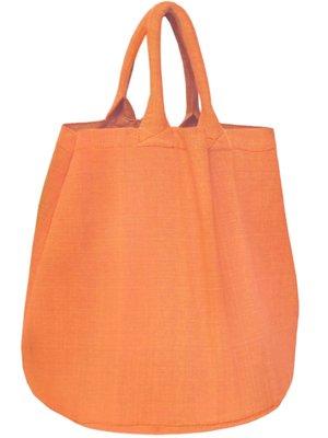 opbergzak/ tas XL rond zware katoen - abrikoos