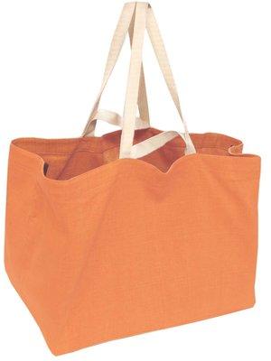 tas XL dubbel handvat zware katoen-abrikoos