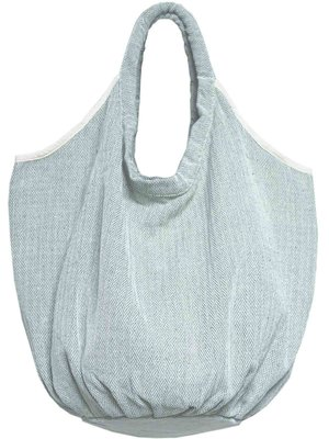 tas / tote bag XL -ronde bodem visgraat- zeegrijs