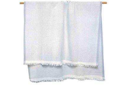 hammam/stranddoek gemêleerd 3 -zeegrijs/wit