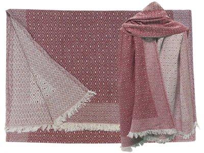 sjaal wol/katoen diamond reversible berry