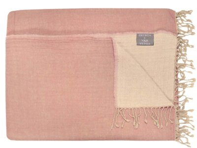 deken reversible wol -powder pink/ off white