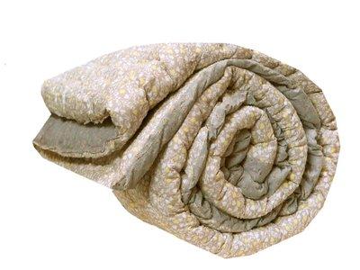 quilt deken dik reversible eenpersoons geel/grijs/wit