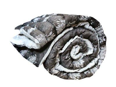 quilt deken dik reversible eenpersoons -donker grijs/wit
