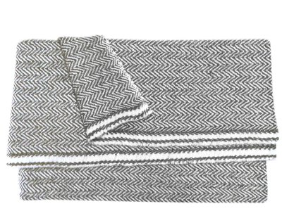 omslagdoek meditatiedeken kashmir wol zigzag anthraciet
