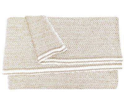 omslagdoek meditatiedeken kashmir wol zigzag beige
