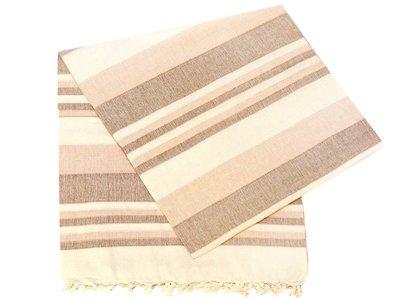 grand foulard katoen -apricot/brown/offwhite