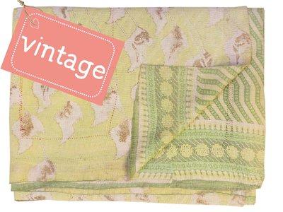 UITVERKOCHT deken quilt vintage katoen