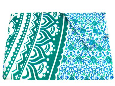 EXTRA KORTING! sprei/stranddoek XL mandala blauw/groen