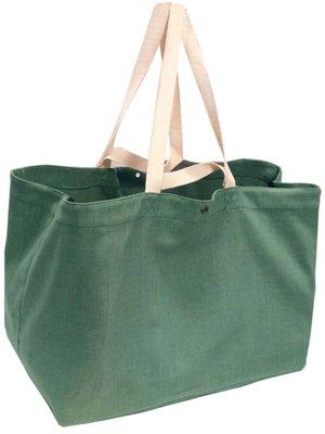 opbergtas/shopper XL zware katoen-groen mêlee