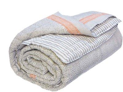 deken quilt tweepersoons blockprint -grijs-wit-blok