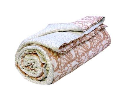 deken quilt eenpersoons blockprint -sienna-paisley