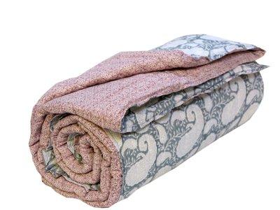 deken quilt eenpersoons blockprint -grijs-paisley