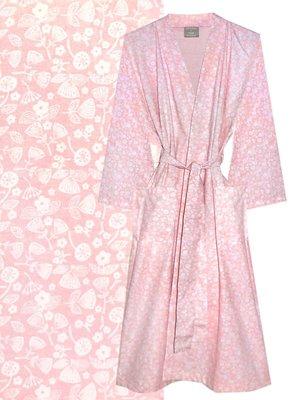 kimono katoen printed- flower mix- soft pink
