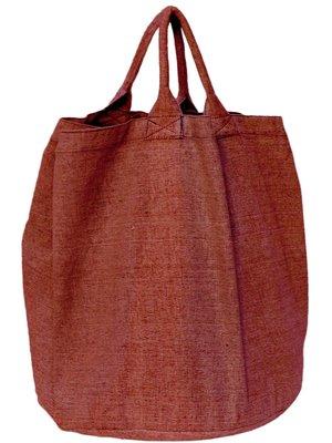 opbergzak/ tas rond zware katoen-brique mêlee