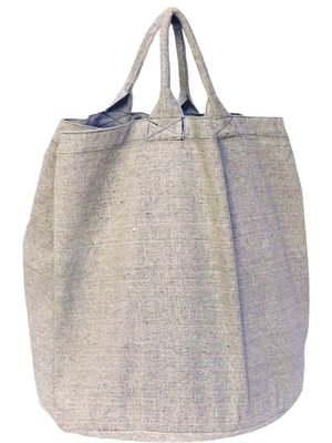 opbergzak/ tas rond zware katoen-grijs mêlee
