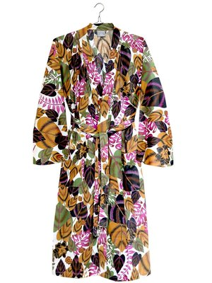 kimono katoen printed- flower mix- rainforest