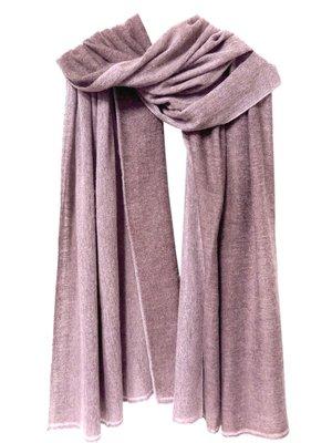 UITVERKOCHT sjaal cashmere 2-tone mauve