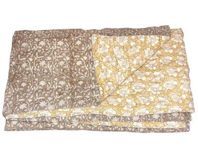 deken quilt peuter/kind -bruin/oker