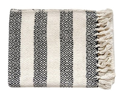plaid grafisch jaquard- off white/black diamond stripe
