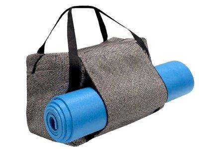 UITVERKOCHT-tas yoga/sport/weekendtas zwart/wit