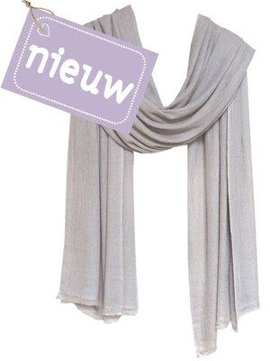 sjaal cashmere  warm grijs