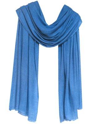 sjaal cashmere hemelsblauw