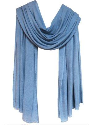 sjaal cashmere grijs-blauw