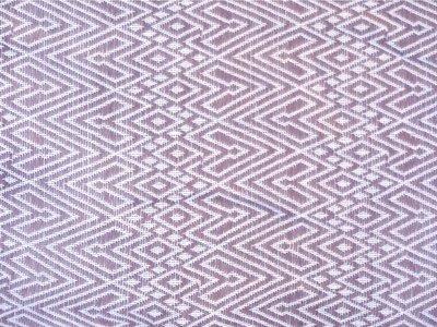 sprei/deken eenpersoons grafisch jaquard white/mauve-violet