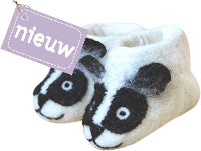 babyslofje vilt 'Panda'