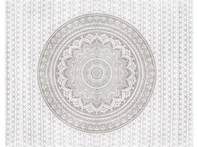 UITVERKOCHT sprei/stranddoek  mandala zilver