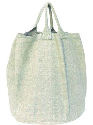 opbergzak/ tas rond zware katoen-groen