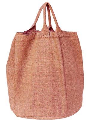opbergzak/ tas rond zware katoen-peach