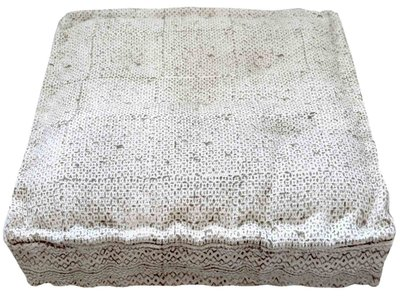 matraskussen blockprint dhurrie 60 x 60 -taupe