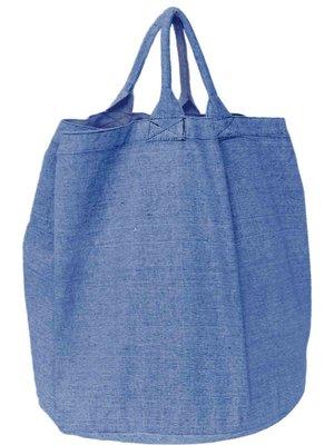 opbergzak/ tas rond zware katoen-jeans blauw