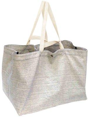 opbergtas/shopper XL zware katoen -grijs mêlee