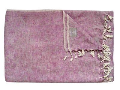deken wolmix/katoen gemêleerd roze/grijs