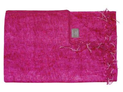 deken wolmix/katoen gemêleerd magenta/licht roze
