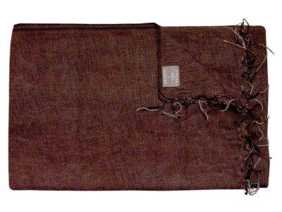 deken wolmix/katoen gemêleerd roodbruin/zwart