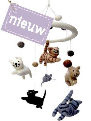 UITVERKOCHT hanger mobile poes en muis wolvilt