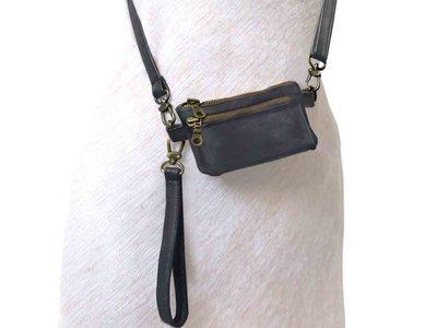 tas portemonnee leer small- warm grey