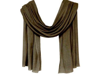 sjaal cashmere -army ingeweven streepje