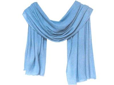 sjaal cashmere -zacht blauw
